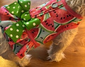 Summer Watermelon Ruffle Dog Harness Made in USA, dog dress, dog harnesses, pet clothing