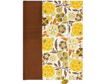 Address Book Medium Golden Flowers