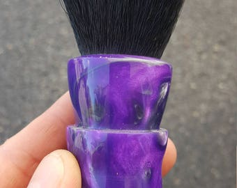 Purple Fusion 26mm Synthetc Tuxedo Shaving Brush, Chunky Handled, 26 mm