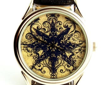 ON SALE 25% OFF Watch with print from 16th century book, men watch, ladies watch, unisex watch,
