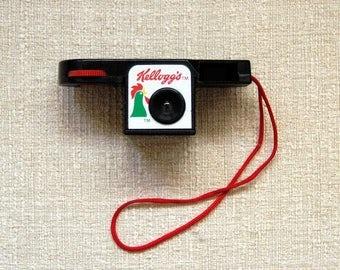 Kellogg's Cereal Camera, 110 Microcam, Original Owner's Manual, Box, Vintage Advertising, Kellogg Corn Flakes Rooster Logo, New Old Stock