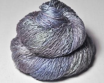 Nimue's violet pearl (2)  - Tussah Silk Lace Yarn