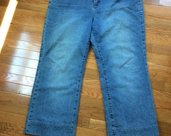 Jeans, Plus Size,Blue, Worn Out, Vintage