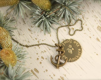 Anchor Hope Anchors the Soul Necklace
