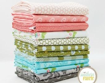 """Lella Boutique - Fat Quarter  Bundle - 12 - 18""""x21"""" Cuts - by Lella Boutique - Moda Quilt Fabric"""