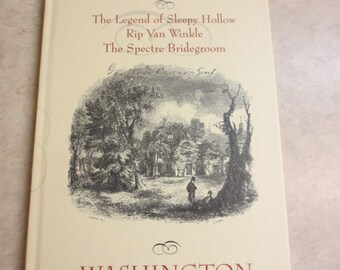 Three Tales From The Sketch Book by Washington Irving, with Printer's Error. Includes The Legend of Sleepy Hollow and Rip Van Winkle.