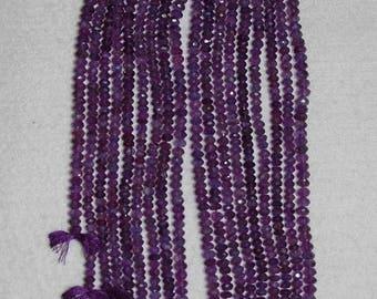 Amethyst, Amethyst Rondelle, Faceted Rondelle, Gemstone Rondelle, Gemstone Bead, Purple Rondelle, Sparkle, Full Strand, 5 mm, AdrianasBeads