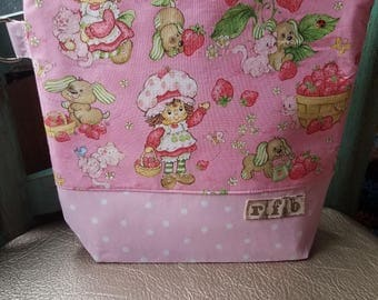 Knitting project bag Strawberry shortcake