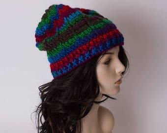 Crochet Beanie, Handmade Hat, Ribbed Beanie