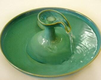 """Ceramic Cat Drinking Fountain """"Caribbean Turretel"""""""