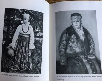 1921 Russian Festivals and Costumes for Pageant and Dance by Louis Chalif hardcover book