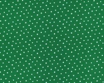 Organic KNIT Fabric - Cloud9 2017 Knits - Dots Green