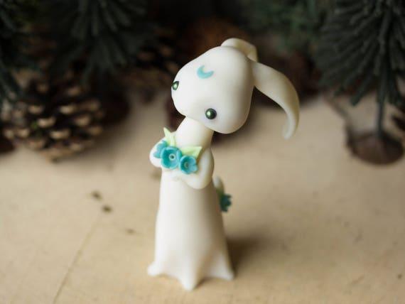 Moon-Gazing Hare - Glow in the Dark Rabbit by Bonjour Poupette