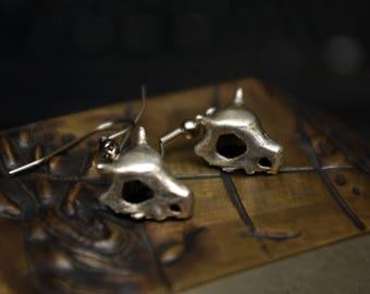Cubone Earrings - Sterling Silver