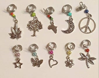 10 Pieces Loc Jewelry Starter Set Hair Accessory Dreadlock Beads Charms Wholesale Available