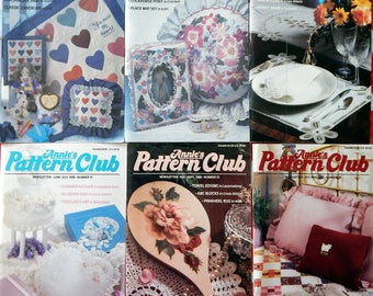 Annie's Pattern Club Newsletter Magazine Full year 1988  Crochet Dolls, Stickhorse Pony, Afghans, Sew Pillows,  Quilts, Baby, Animals & More