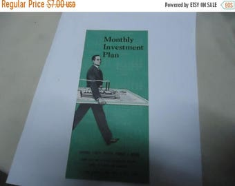 Ephemera & Books 50% Sale Vintage 1954 Merrill Lynch, Pierce, Fenner and Beane Monthly Investment Plan Booklet, collectable