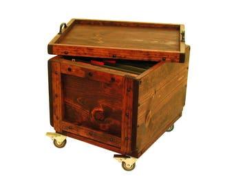 File Organizer on Wheels, Rolling File Crate, Portable File Storage, Lidded File Box on Wheels, Mobile File Storage & Organization