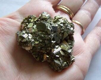 Natural Gold Pyrite Cluster Mineral Specimen