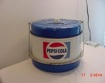 Vintage Metal Pepsi - Cola Cake & Pie Carrier    17 -