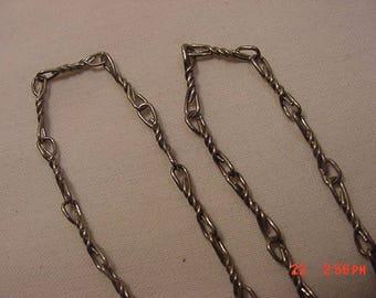 Vintage Silver Tone Metal Chain Link Necklace  18 - 367