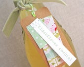 50% Off! Set Of 10 Fabric Patch Handmade Elderflower Cordial Labels