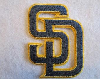 San Diego Padres Iron On Patch, San Digo Padres, San Diego, Football, Iron On Patch, Iron On Applique