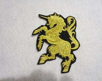 Embroidered Mythical Unicorn Iron On Patch, Unicorn Patch, Iron On Patch, Unicorn Applique, Unicorn
