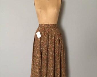 25% OFF SALE... SALE...woodland cotton skirt | full flouncy maxi skirt