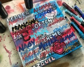 Cleveland Indians Graffiti No. 05 Painting 17 x 17 by Garrett Weider