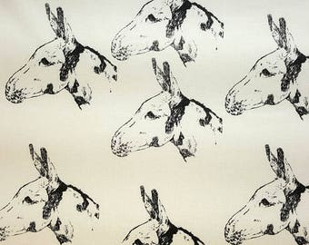 Donkey Fabric Poly/Cotton Hot Diggity Dog™ Many Colors Novelty Fabric 1 yd