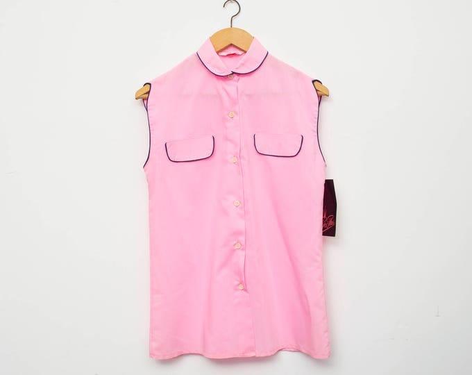 NOS vintage 80s shirt pink