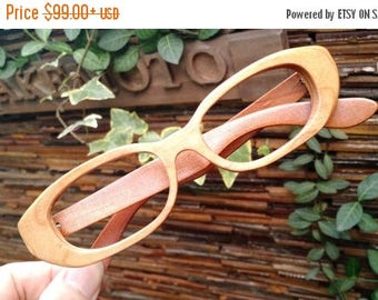 20% off SUMMER SALE Tiny flaw cherry wood   handmade prescription sunglasses eyeglasses from TAKEMOTO can be customize
