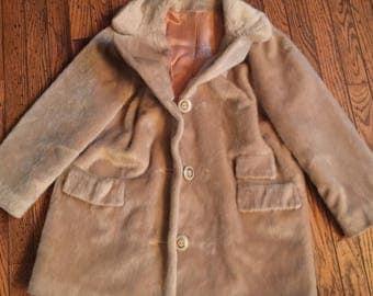 Beautiful Vintage Russel Taylor Faux Fur Women's Jacket Coat Sz Medium