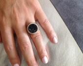 925 Signet Ring, Druzy Je...