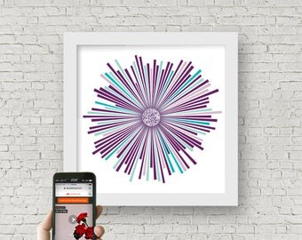 Custom Sound Wave Art - All of Me / John Legend QR code personalized paper anniversary gift for him - first wedding dance song