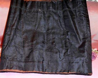 Antique Fabric Victorian Dress Black Remnant Heavy Cotton