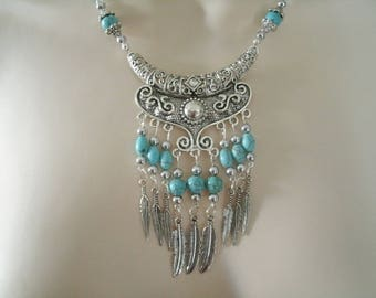 Turquoise Necklace, southwestern jewelry southwest jewelry turquoise jewelry native american jewelry style country western necklace cowgirl