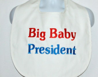 Custom Funny Adult Bib, Canvas, Big Baby Club, Company, President, Shirt Protector, Personalized, No Shipping Fee, Ships Today, AGFT 1208