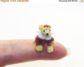 Summer Sale Micro Artist Bear  Miniature Bear  crochet only 2 cm.real