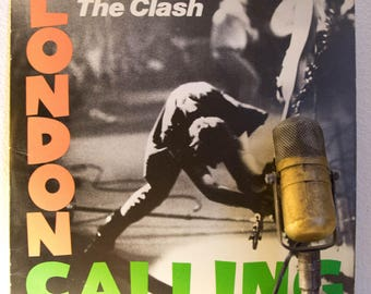 "ON SALE The Clash Vinyl Record Album 1970s Punk Rock Masterpiece LP Joe Strummer Mick Jones ""London  Calling""(1980 Cbs Records)"