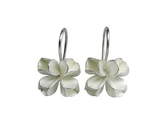Silver Earrings In Shape Of Flower Buds