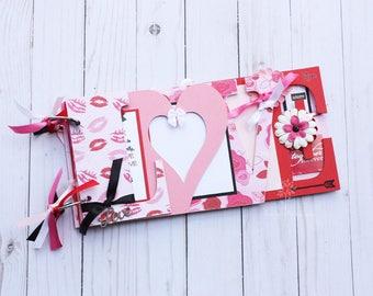 Love scrapbook / Wedding album / wedding gift / wedding guestbook / Pre-made scrapbook / Gift for boyfriend / Gift for girlfriend