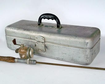 Rare 1950s UMCO 501 Aluminum Tackle Box with Original Sales Receipt