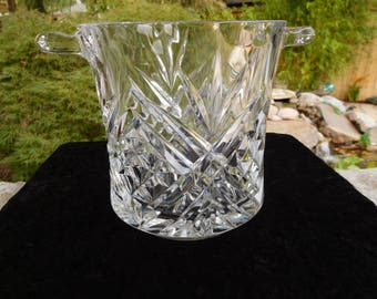 Crystal Ice Bucket made by Cristal D'Arques of France
