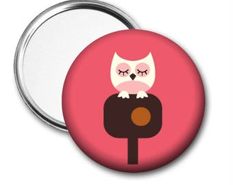 Modern Owl Pocket Mirror - 2 colors