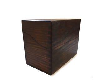 Vintage Wood Recipe File Box - Tiger Oak -  Mead's Index File Corrective Diet for Infants - 1921 Label Inside