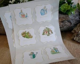 PETER RABBIT - Book Plate STICKERS - By the Dozen - Beatrix Potter Book Shower