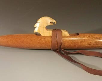 Native American Style Flute, Sapele, mid G