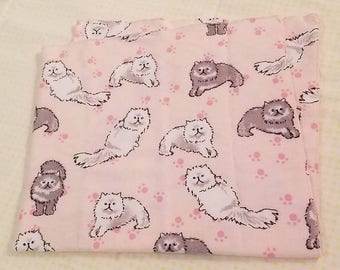 Doll / Toy Blankets or Burp Cloths - cats